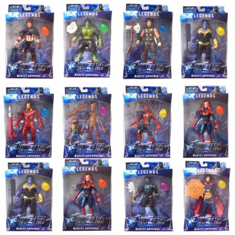 Brinquedos Bonecos Vingadores Homem De Ferro Thor Capitão América Tv Novo Super-heróis