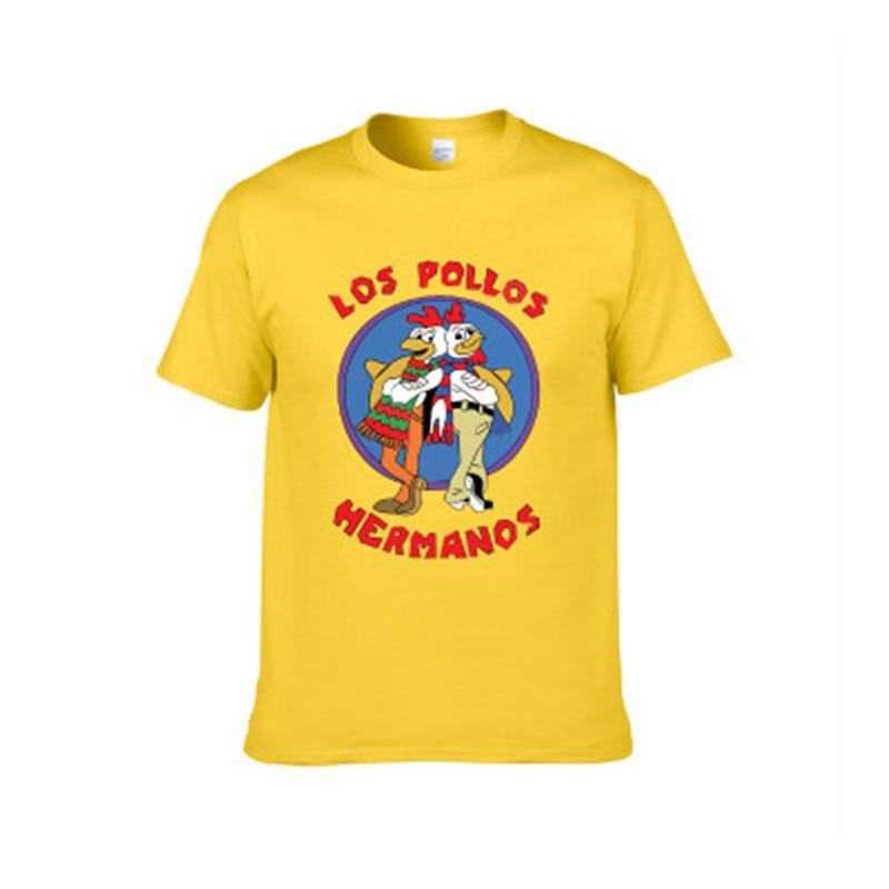 WMHYYFD Men's New Fashion Hole Shirt 2019 LOS POLLOS Hermanos T-Shirt Chick Brothers Short Sleeve T-Shirt Top