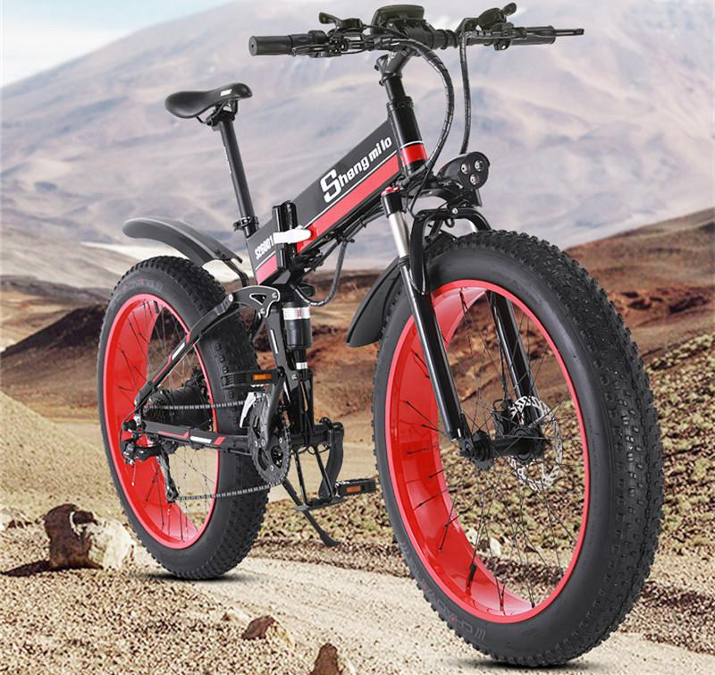New Electric Snow Scooter Two Wheel Electric Bicycles 4.0 Fat Tire Powerful Electric Bicycle 1000W 48V Off Road Mountain E Bike