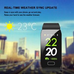 Image 5 - Sport krokomierz inteligentna bransoletka Monitor ciśnienia krwi Smartband Tracker snu Bluetooth przypomnienie informacji Pulsera Inteligente