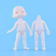 Dolls Toys Bald-Head 16cm Nude Mini Jointed Naked Body Girls for Gift 13 1pc Movable