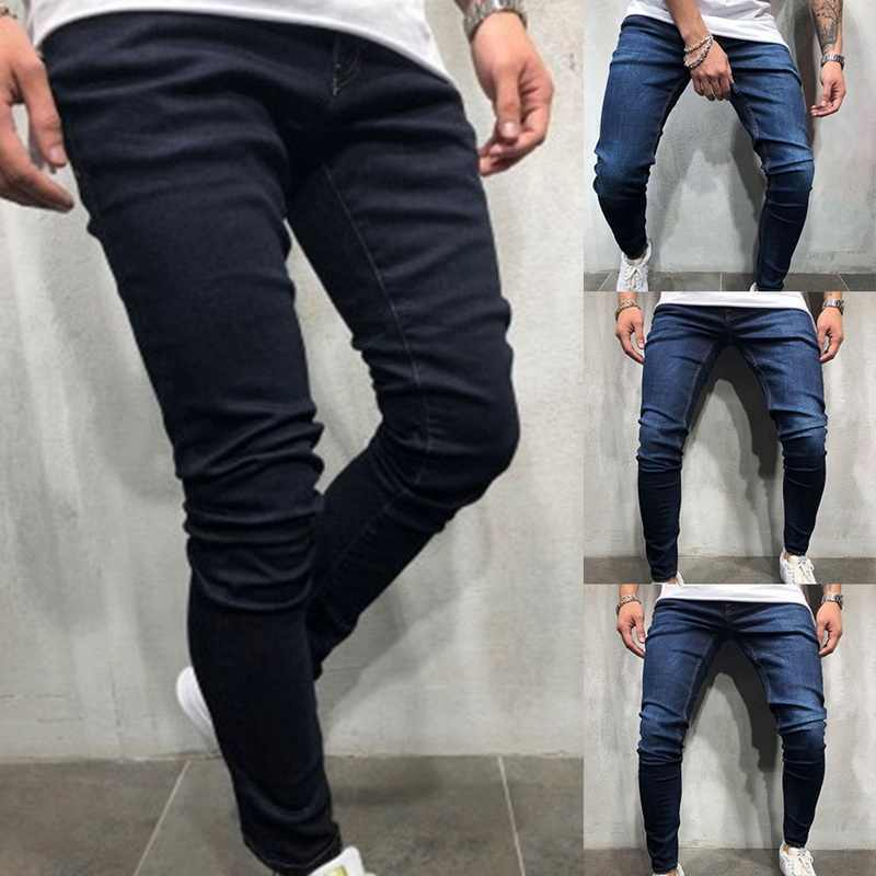 HEFLASHOR 2019 Casual Jeans Men Slim Fit Pant Autumn Classic Jeans Male Denim Trousers Streetwear Fashion Skinny Straight Pants