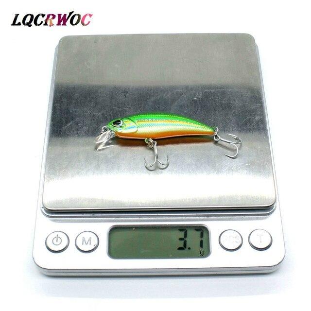 Nuevo 50mm 4g Minnow Stream Fishing señuelo Mini trucha baits pequeño whopper vibrante luz hundimiento micro fish crankbait Japón invierno