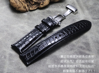 Watchband 18mm 19mm 20mm 21mm 22mm Crocodile Grain Genuine Leather bands Black Brown high quality soft Universal Watch Straps