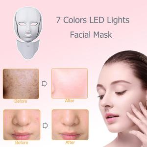 Image 2 - LED Facial Mask Photon Therapy Skin Care Mask with Neck 7 Colors Light Mask Wrinkle Acne Removal Face Beauty Tool