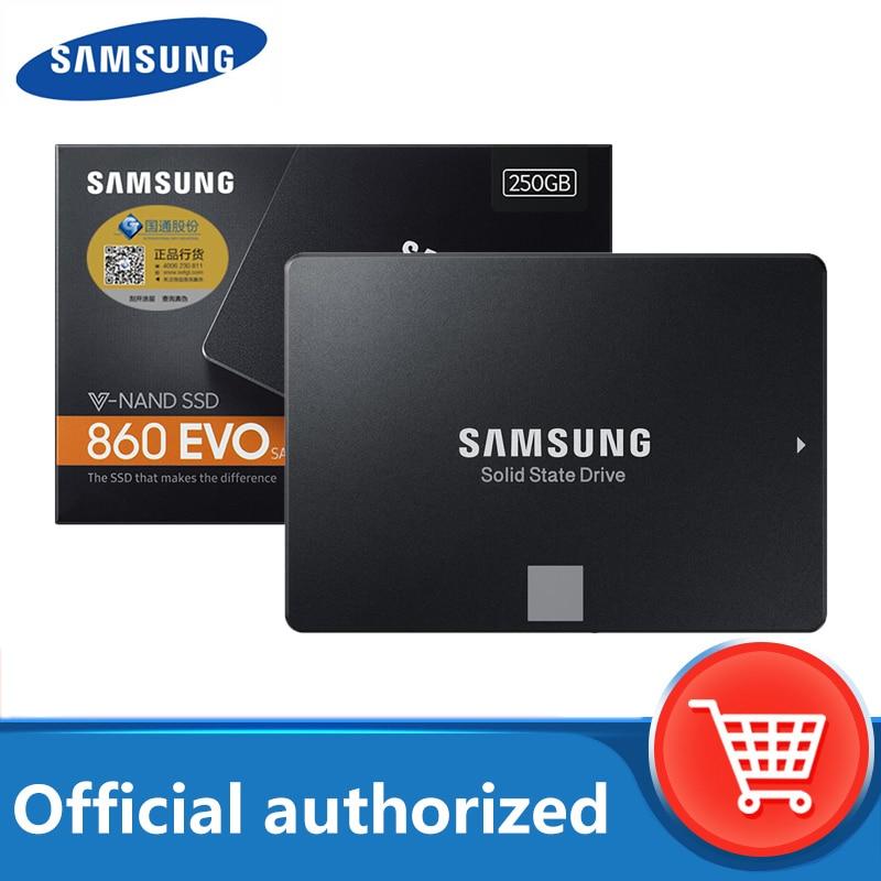 SAMSUNG SSD 860 EVO dahili katı hal diski 250GB 500GB 1TB 2TB SATA3 2.5 HD sabit drivefor dizüstü masaüstü PC