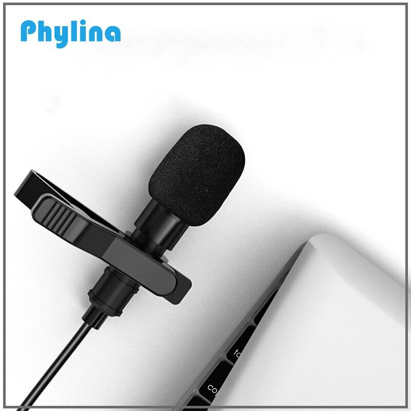 Mini portátil microfone de lavalier clip-on condensador mikrofo/microfon para o telefone para câmera entrevista de vídeo tipo relâmpago-c 3.5mm