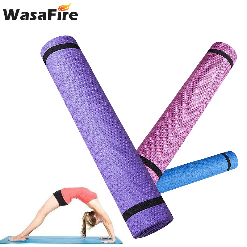 6MM Thick EVA Foam Yoga Mat Non-slip Breathe Durable Yoga Mats Indoor Exercise Pilates Pad Fitness Gym Equipment
