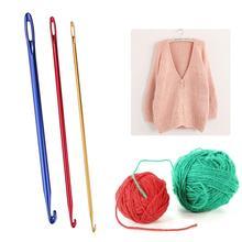 Crochet-Hooks Knitting-Tools Aluminium-Oxide Sewing-Needle Handicrafts with Hole-Eye