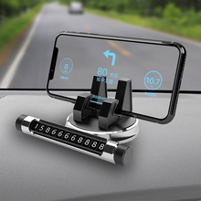 Hidden car temporary stop sign Car phone holder mobile number plate XY-S001 grafalex xy 201