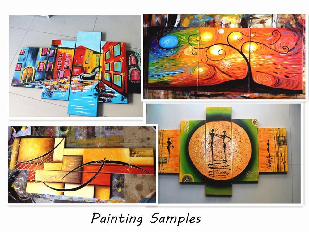Hand Bemalt Ölgemälde 5 Stück Rot Schwarz und Weiß Abstrakte Kunst Moderne Wohnkultur Wand Kunst Gruppe Malerei hause Dekorative Pa - 4
