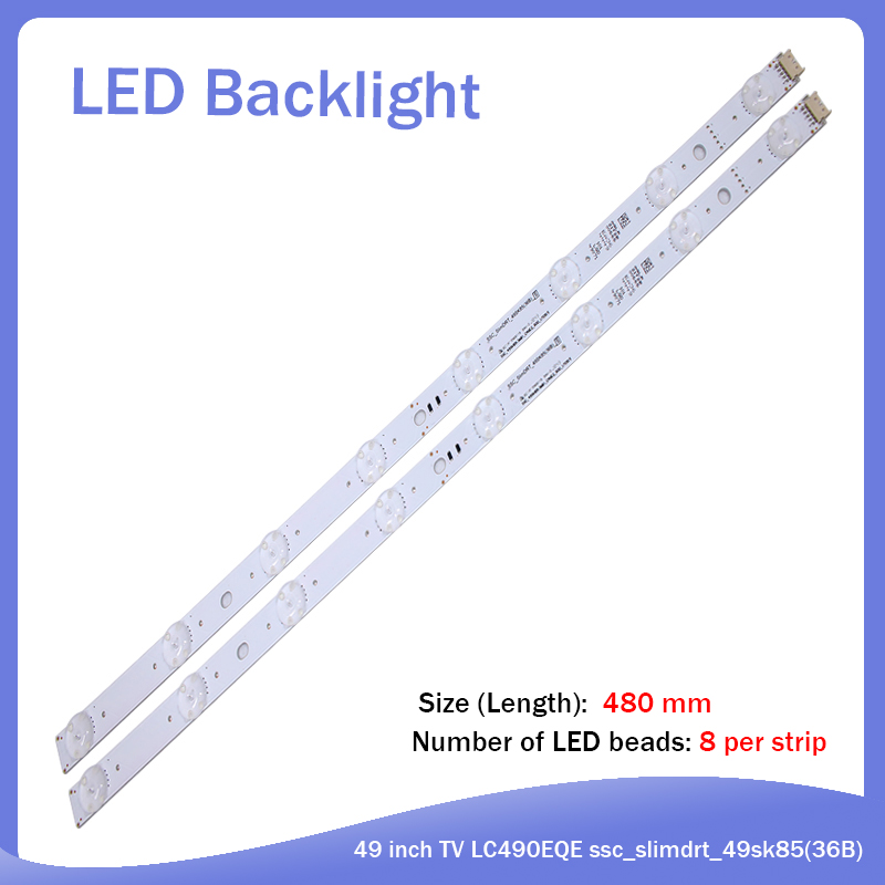 LED Backlight Strip 8 Lamp For LG 49 Inch TV LC490EQE Ssc_slimdrt_49sk85(36B) SSC_49SK85(36B) LC490EQE(XG)(F1)