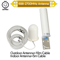 ZQTMAX 2g 3g 4g Antenna for Tri Band Signal Booster 900 1800 2100 GSM WCDMA UMTS LTE Cellular and 15m Coaxial cable