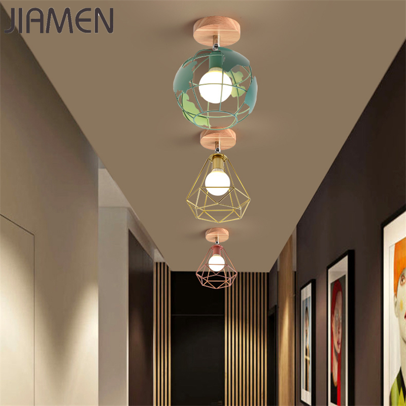 JIAMEN Modern Ceiling Lamp Led Lights Nordic Macaron Colorful Lampshade Lamp for Living Room Bedroom Kids Room Ceiling Fixtures
