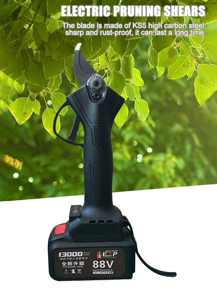 Shear Pruning Cutter Electric Branches Pruning Lithium-ion 21V Fruit Tree Electric Tree Branch Pruning Tree Pruner Bonsai Shears