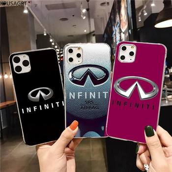 Super Car Infiniti Logo Custom Soft Phone Case for iphone 12 pro max 11 pro XS MAX 8 7 6 6S Plus X 5S SE 2020 XR cover image
