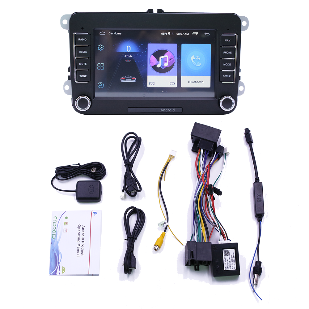 Car Radio For <font><b>VW</b></font> Tiguan Jetta <font><b>Golf</b></font> Polo Passat Cc Skoda Octavia Multimedia Android Gps <font><b>USB</b></font> BT Navigation Stereo Tape Recorder image