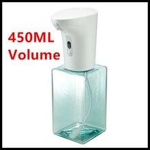 Dispensador de sabão em espuma automática, dispensador de sabão para mãos 2020 nova 450ml (sem líquido)