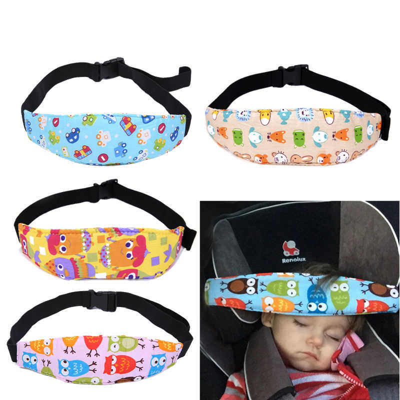 Infant Car Seat Head Support Children Fastening Belt Head Holder Adjustable Playpen Sleep Positioner Baby Saftey Stroller Pillow