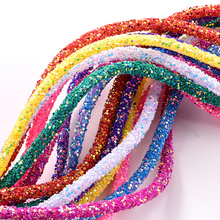 Cord-Rope Rhinestones-Rope Glitter Tube Wedding-Decorations 1-Yard Mulit-Colors 6mm Resin
