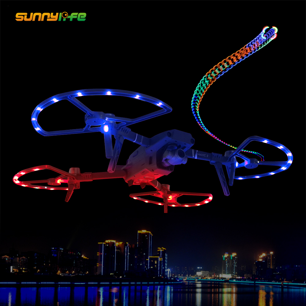 Sunnylife 8743F LED Propeller Guards With Landing Gears Stabilizers Accessory For DJI MAVIC 2 PRO/ ZOOM Drone