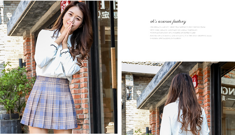 Harajuku Short Skirt New Korean Plaid Skirts Women Zipper High Waist School Girl Pleated Plaid Skirt Sexy Mini Skirt Plus Size 16