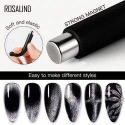 1 pièces noir ongle oeil de chat aimant Spar oeil de chat ongle Gel polissage fantaisie cylindrique aimant UV/lampe à LED outils d'ongle aimant oeil de chat