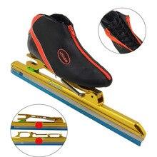 Termoplastico in fibra di carbonio scarpe di pattinaggio di velocità dislocazione scarpe da skate avenue posizionamento pattini da ghiaccio da corsa pattini per adulti bambini di ghiaccio