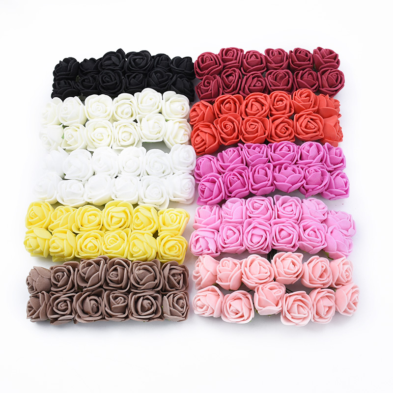 144 Pieces Cheap Artificial Flowers For Home And Wedding Decorative 1