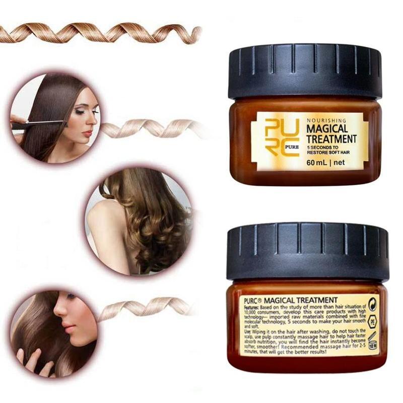 Купить с кэшбэком 60ml Conditioner Reatment Mask Repairs Damage Restore Soft Hair For All Hair Types Keratin Hair & Scalp Treatment