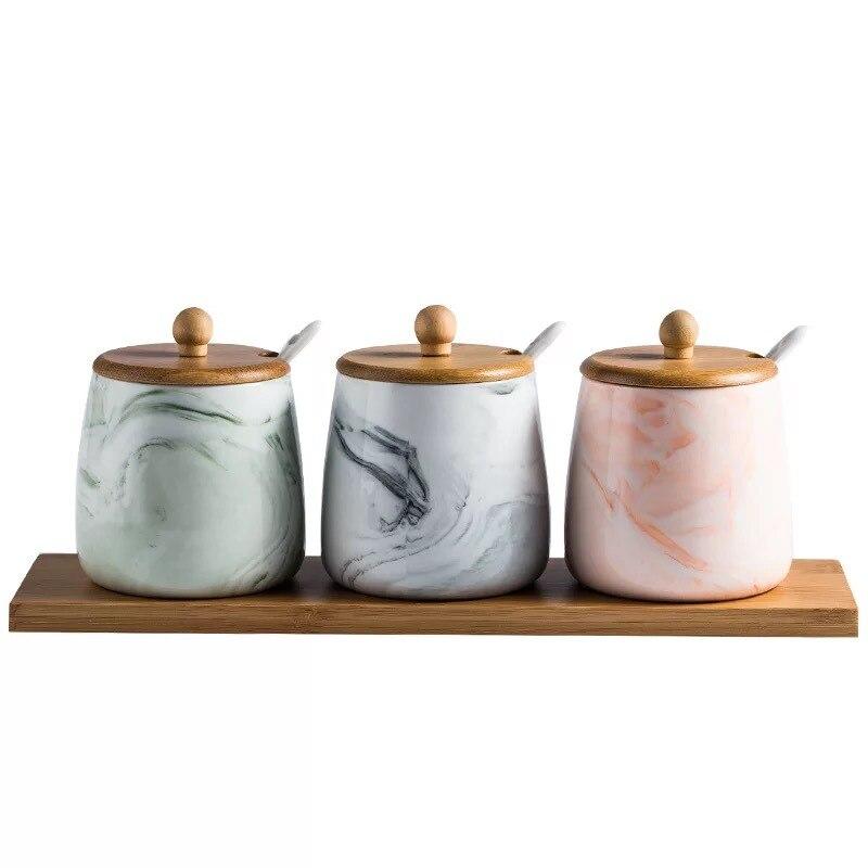 Kitchen seasoning box suit household ceramic seasoning bottle