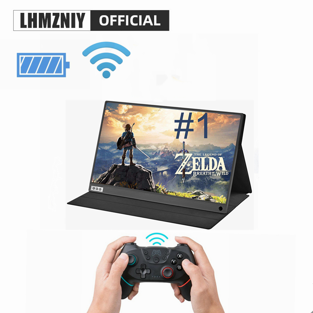 LHMZNIY thin portable lcd HD IPS monitor 15.6 usb type c hdmi for laptop phone xbox switch and ps4 portable lcd gaming monitor image