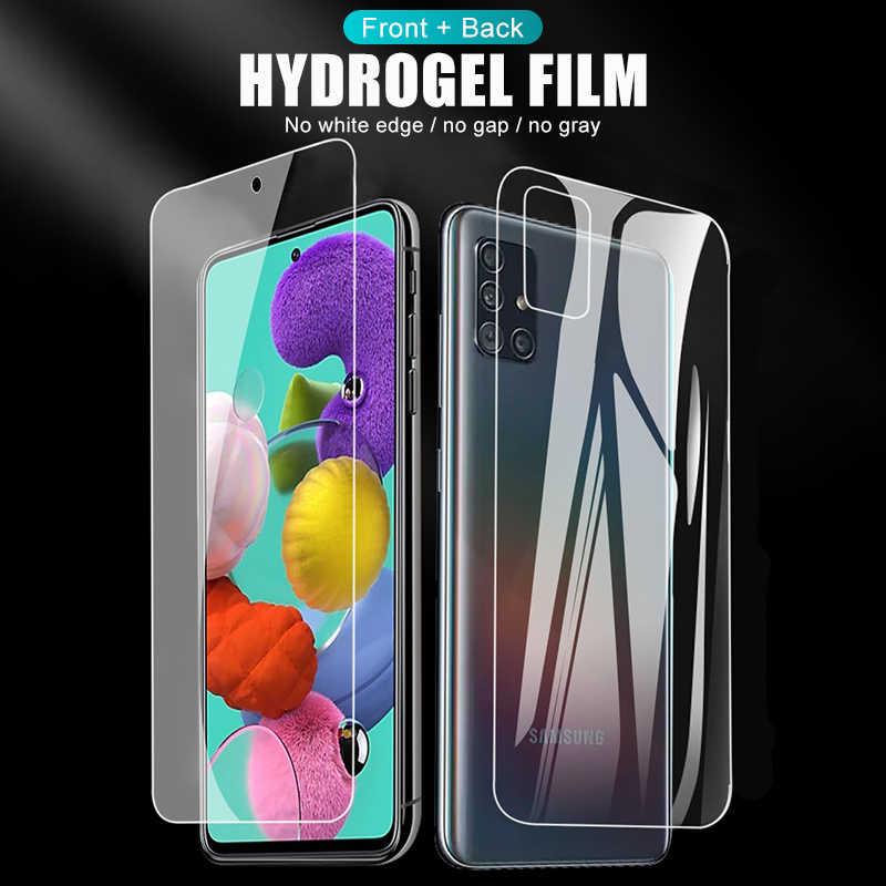 Voor + Back Hydrogel Film Voor Samsung S20 Ultra S20 Plus Screen Protector Voor Samsung A51 A71 A51 A71 51 71 M31 Camera Len Film