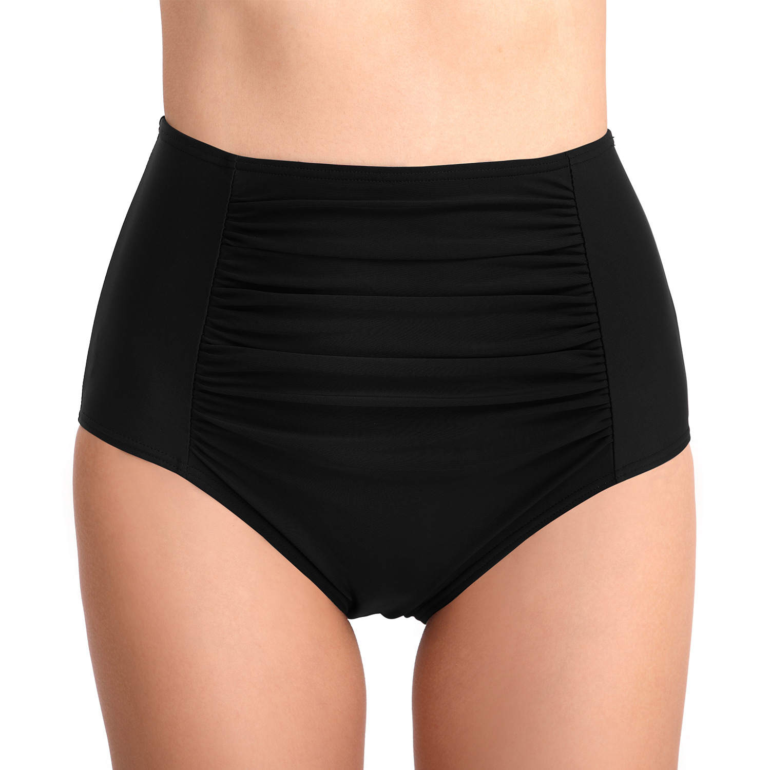 2020 Hot Selling Swimming Trunks Pleated Tight-Style Swimming Trunks Sheath Belly Holding High-waisted Swim Briefs Women's