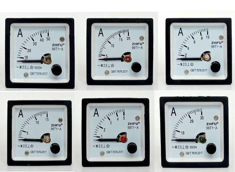 Инструмент указательного типа амперметр переменного тока 99T1 5A 10A 20A 30A 50A 100A 200A 300A 500A