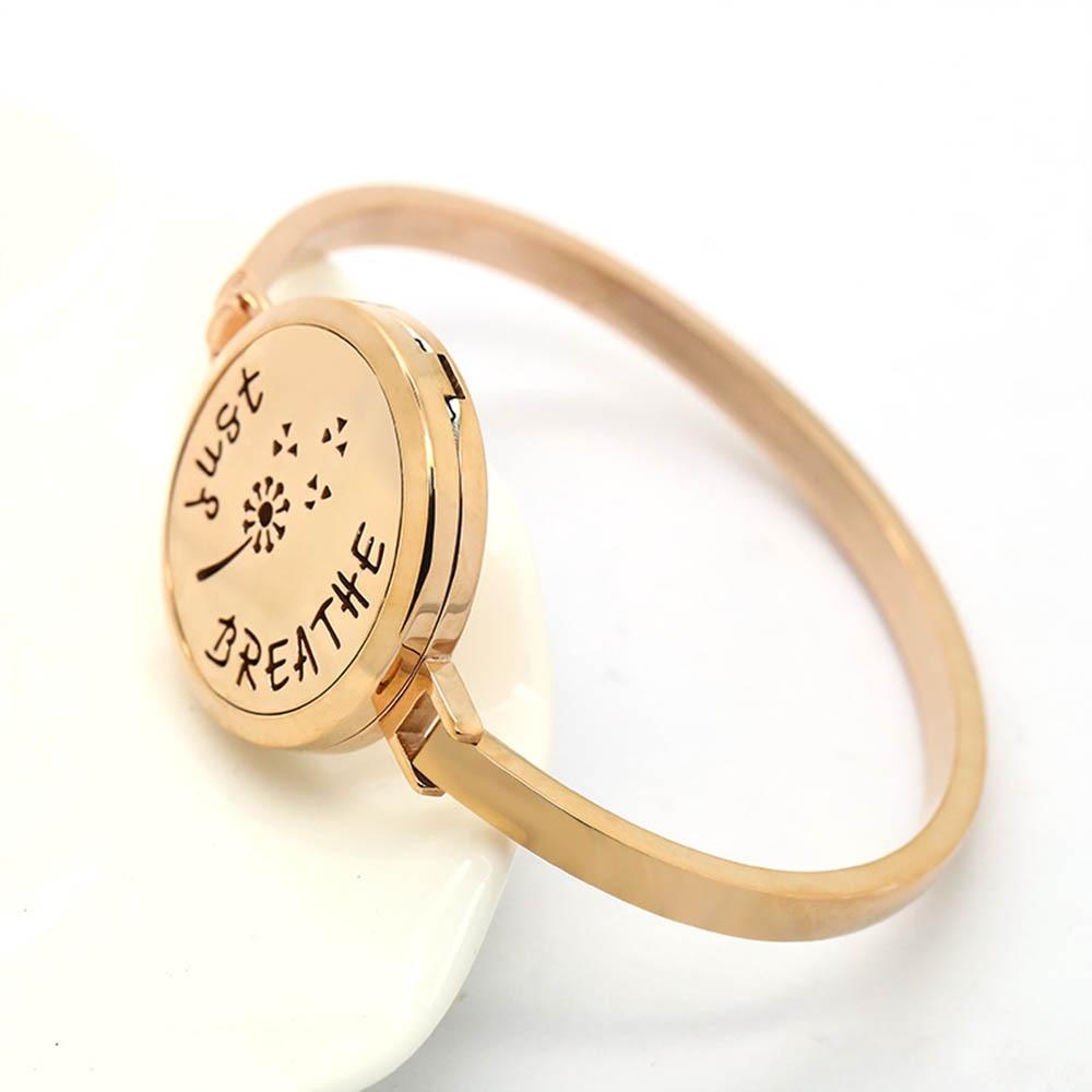 diffuser essential oil bracelet steel