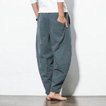 190 # ¡pantalones casuales de verano para hombre y pantalones de Color liso de pantalones de talla grande M-5XL