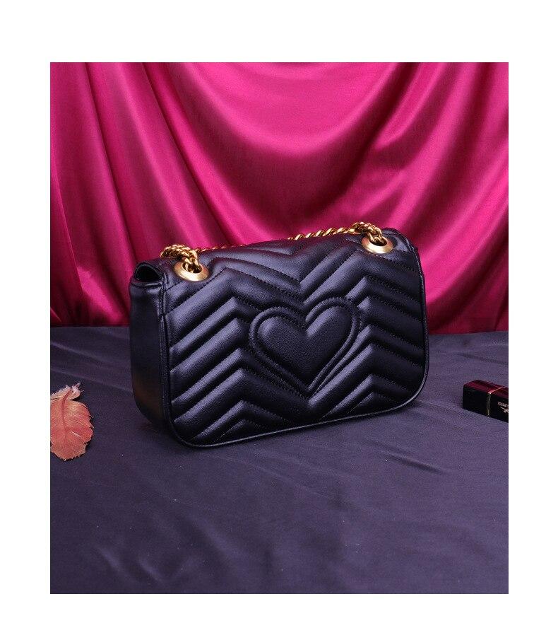 Womens Luxury Fashion Designer Shoulder Bag Chain Flap Crossbody Bag Handbag Clutch For Office Daily