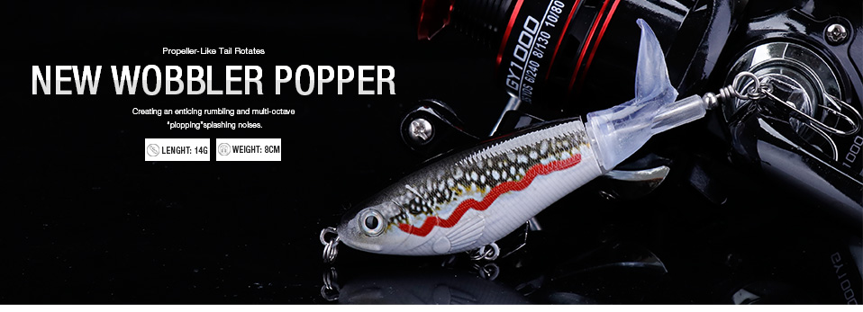 VTAVTA 5pcsLot 14g 8cm Floating Wobblers Pike Fishing Lure Set Pencil Hard Bait Artificial Whopper Popper Fishing Tackle Lures 08