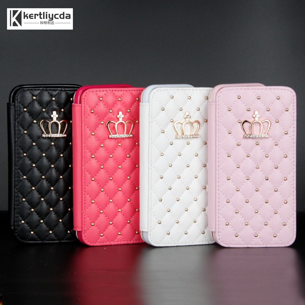 For <font><b>Samsung</b></font> A3 A5 A6 A7 A8 A20 A30 <font><b>A50</b></font> Case Glitter Crown Diamond Wallet Leather Case <font><b>Flip</b></font> Stand <font><b>Cover</b></font> Mobile Phone coque Bag image