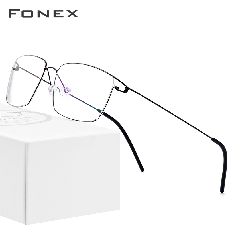 Titanium Alloy Optical Glasses Frame Men Prescription Eyeglasses 2019 New Women Brand Designer Myopia Screwless Eyewear 98624