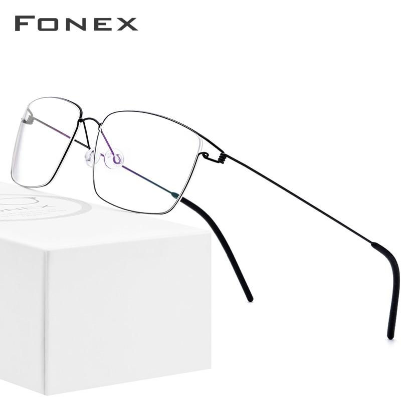 Titanium Alloy Optical Glasses Frame Men Prescription Eyeglasses 2019 New Women Brand Designer Myopia Screwless Eyewear 98624