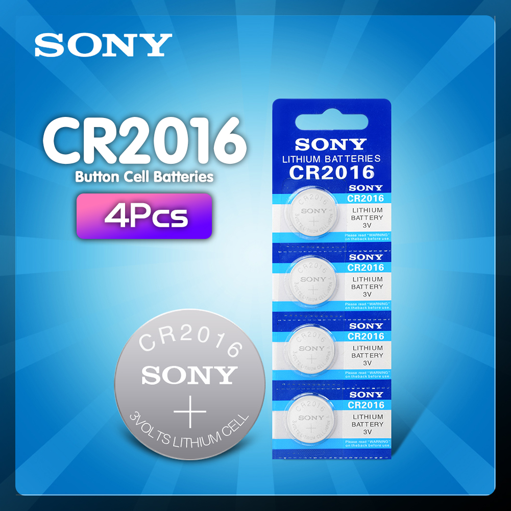 4 шт./лот Оригинальный Новый аккумулятор для SONY cr2016 3 в кнопочный элемент, батарейки для часов, компьютера cr 2016 DL2016 KCR2016