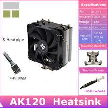 Thermalright AK120 AK120Plus Ak120Mini CPU hava soğutmalı radyatör çift platform için intel 115x2011 2066 AMD AM4 CPU soğutma fanı