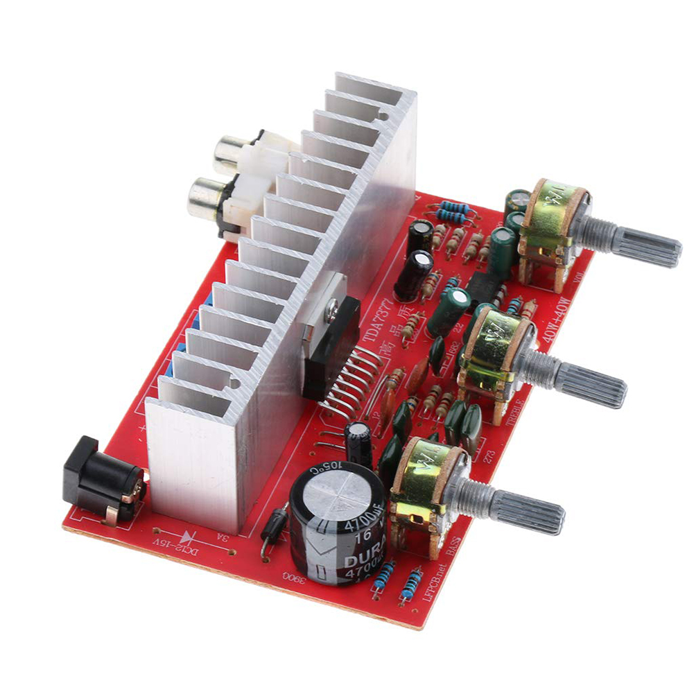 High Power Module Home 40W+40W DC12V-15V <font><b>DIY</b></font> Dual Channel Music Subwoofer <font><b>Car</b></font> For Speaker TDA7377 <font><b>Audio</b></font> Stereo <font><b>Amplifier</b></font> Board image
