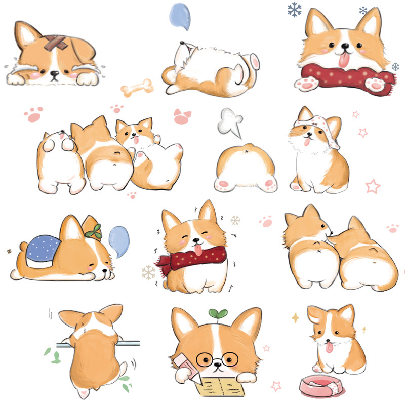 2.5cm Shiba Kawaii Dog Design Bullet Journal Washi Tape DIY Scrapbooking Masking Tape School Office Supply Escolar Papelaria