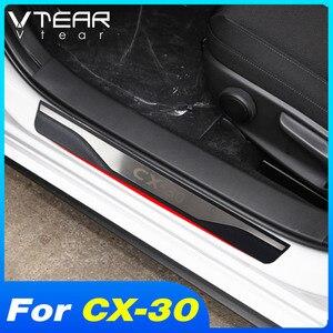 Image 1 - Voor Mazda CX30 CX 30 2021 2020 Accessoires Auto Instaplijsten Scuff Plaat Interieur Trim Rvs Protector Plates Cover