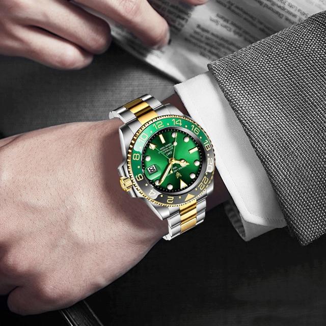 Купить часы lige мужские наручные механические роскошные модные водонепроницаемые картинки цена