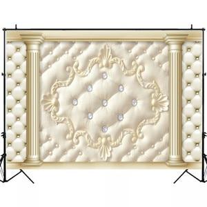 Image 4 - Laeacco tête de lit piliers diamants guirlande motif photographie arrière plans fonds photographiques fête danniversaire Photozone accessoires