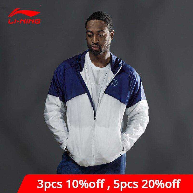 Li-Ning Men Wade Series Windbreaker Jacket Nylon Regular Fit LiNing Comfort Sports Hooded Li Ning Jackets Coats AFDP005 MWF392